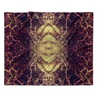 "Pia Schneider ""Burning Roots IV"" Maroon Celestial Fleece Throw Blanket"