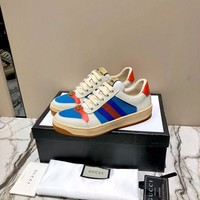 Gucci Hot Sale Genuine Leather Fahsion Women Casual Sports Shoes Sneakers