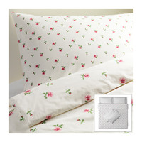 EMELINA KNOPP Quilt cover and 4 pillowcases - 240x220/50x80 cm  - IKEA