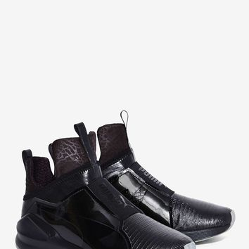 PUMA Fierce Shine Trainer Sneaker - Black