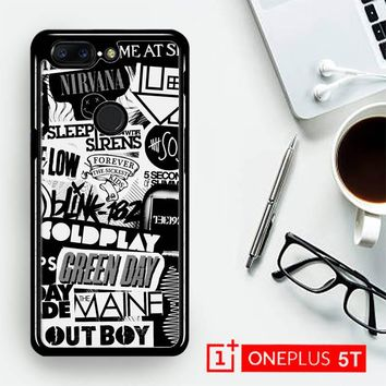 The Xx Coldplay Arctic Monkeys The Neighbourhood Sleeping With Sirens The 1975 Band Z0252  OnePLus 5T / One Plus 5T Case