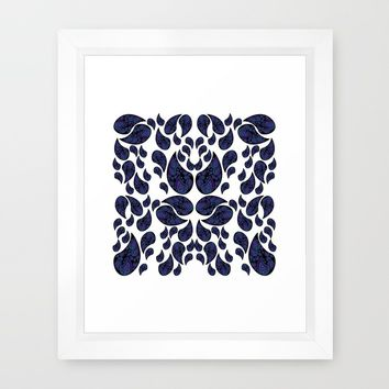Paisley purple and teal Framed Art Print by VanessaGF | Society6