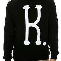 The BIG K Crewneck Sweatshirt in Black and White