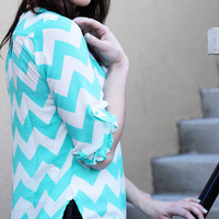 Chevron Mint Tunic