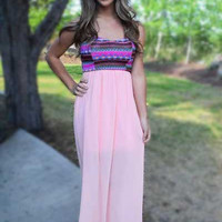 Perfectly Peachy Maxi Dress