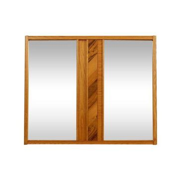 Pre-owned Mid-Century Modern Oak and Hickory Mirror