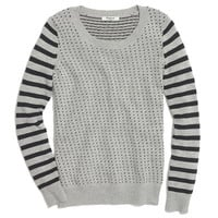 Striped Birdseye Sweater - pullovers - shopmadewell's SWEATERS - J.Crew