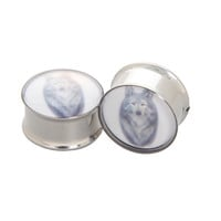 Morbid Metals Steel Wolf Plug 2 Pack | Hot Topic