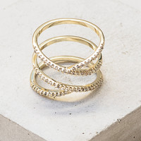 Twisted X Ring - Gold