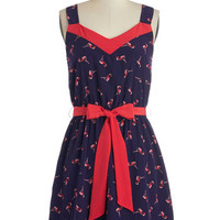 ModCloth Quirky Mid-length Spaghetti Straps A-line Migrate Expectations Dress