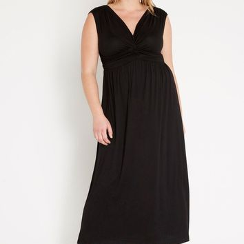 Ethereal Surplice Maxi Dress Plus Size