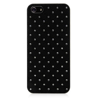 Black Rhinestones Hard Back Cover For iPhone 5 & 5S