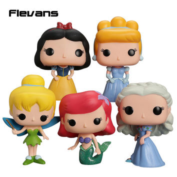 """FUNKO POP Princess Cinderella Tinker Bell Ariel Snow White PVC Action Figure Collection Toy Doll 4"""" 10cm"""