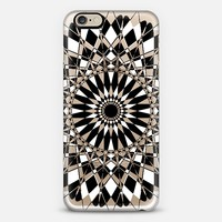 Black and White Feather Star Transparent iPhone 6 case by Organic Saturation | Casetify