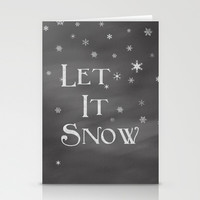 Let It Snow Stationery Cards by Dena Brender Photography