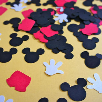 Mickey Mouse Ears Pants Glove Disney Lot of 100 Scrapbook & Card Making Die Cuts Made to Order