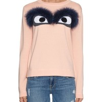 Fox-fur bug-eyes wool sweater | Fendi | MATCHESFASHION.COM US