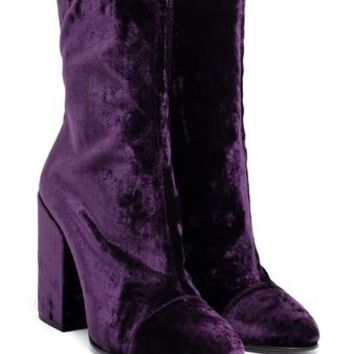 DRIES VAN NOTEN | Velvet Boots | brownsfashion.com | The Finest Edit of Luxury Fashion | Clothes, Shoes, Bags and Accessories for Men & Women