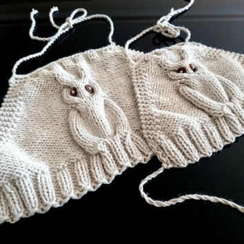 Mommy and me outfits, beige, Owl crop top, easter outfit, knit top, little princess top, mommy and daughter matching outfits, owl clothing