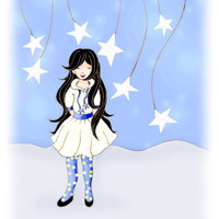 Wish Upon A Star Kids Wall Art Childrens Art by wonderlaneart