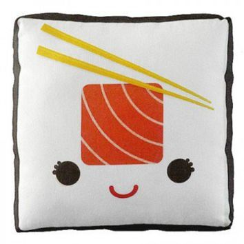 Handmade Gifts | Independent Design | Vintage Goods Mini Happy Sushi Pillow - Salmon Roll - Home Decor - For The Home