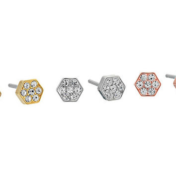 Michael Kors Polished Platings Nugget Pavé Stud Earrings Set