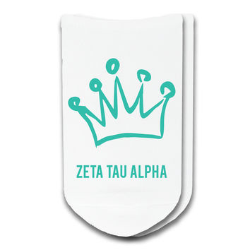 Zeta Tau Alpha - Sorority Icon No-Show Socks