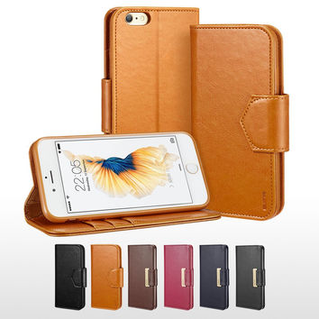 ESR Premium PU leather Business Style Wallet case Flip Cover Folio Case for iPhone 6/6s 4.7""
