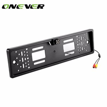 Onever Waterproof European License Plate Rear View Camera Auto Car Reverse Backup Parking Rear view Camera Night Vision