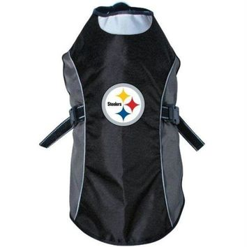 spbest Pittsburgh Steelers Water Resistant Reflective Pet Jacket