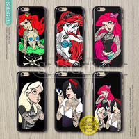 Tattooed Disney Princess ariel, iPhone 6 case, iPhone 6 Plus case, iPhone 5 case, iPhone 5S Case, Galaxy S5 S4 S3 Note 2 Note 3, A0332
