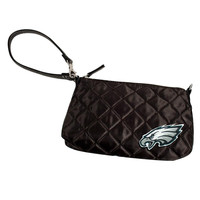 Philadelphia Eagles NFL Quilted Wristlet (Black)