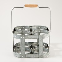 4-Section Galvanized Caddy - World Market