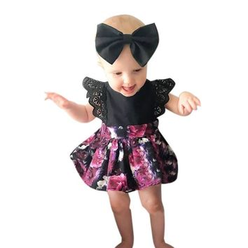 Baby Girl Butterfly Princess Dress with Matching Headband