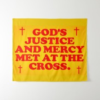 God's Justice And Mercy Met At The Cross. Tapestry
