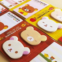 Cute Cartoon Rilakkuma 6 Folding Memo Notepad Note Book Memo Pad Sticky Notes Memo Set Gift Stationery