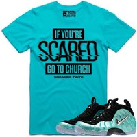 SCARED Sneaker Tees Shirt to Match - Island Green Foamposites