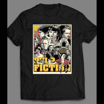 ea7345f99 90'S MOVIE PULP FICTION CUSTOM OLDSKOOL T-Shirt **FULL FRONT OF