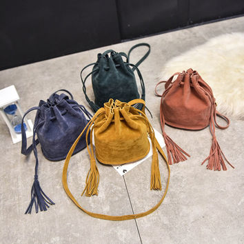 Ulrica Designer handbags high quality Women Bag Messenger Bags New Handbag Tassel Bucket Shoulder Handbags Crossbody Gift Nov 25
