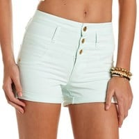 REFUGE HIGH RISE BUTTON-TAB SHORTIE