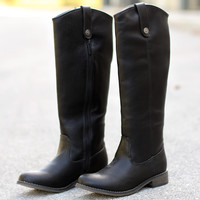 Preppy Rider Boot – Black