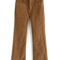 Khaki Bell Bottom Pants