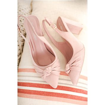 Loraine Knotted Heels (Blush)
