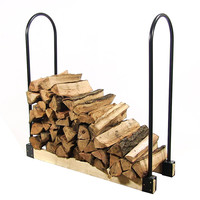 Sunnydaze Adjustable Length Firewood Rack - Adjusts Up to 16 Feet Wide
