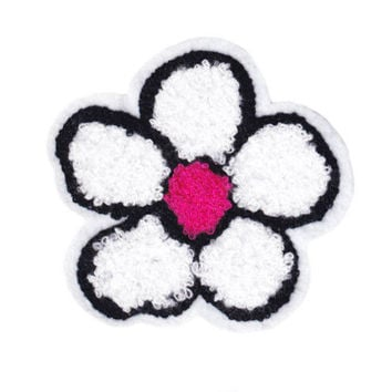 Large & Cute Chenille Hippie Flower Power Patch 10.5cm