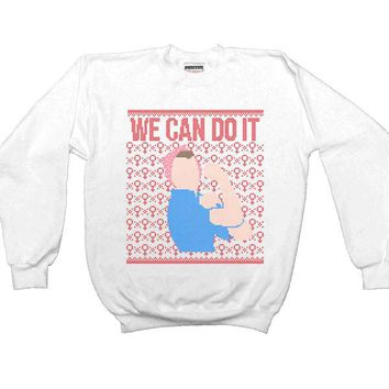 Rosie The Riveter Cross-Stitch -- Unisex Sweatshirt