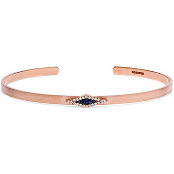 Diane Kordas - Armour 18-karat rose gold, diamond and sapphire bracelet
