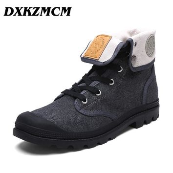DXKZMCM  Fashion Boots Men Canvas Shoes Ankle Boots Casual Design Shoes Winter  Men boots