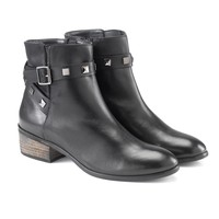 Selene Full Grain Leather Ankle Boots- Made in Italy