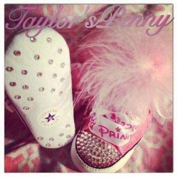 ONETOW baby first star bling converse w marabou